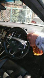 車のハンドルにエスポ・セフティNV
