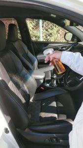 車のシートにエスポ・セフティNV