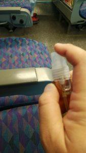 電車内のシート表面にエスポ・セフティNV